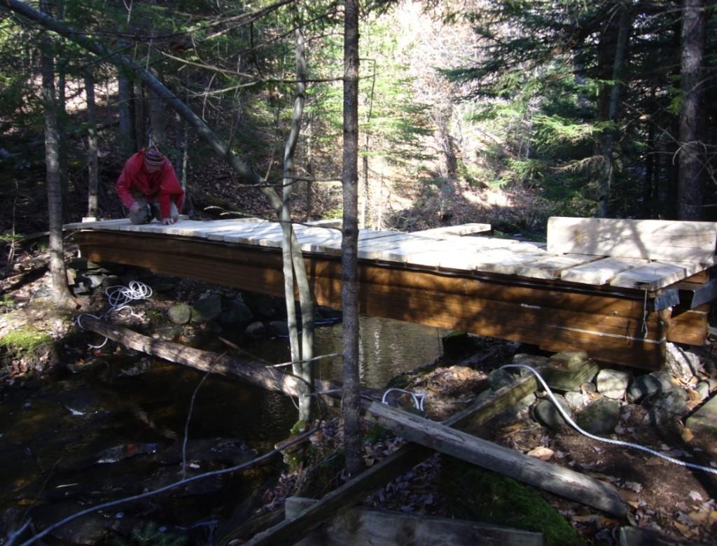 Ralph on Kidder Brook Bridge